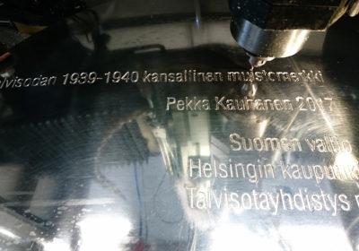 Talvisodan 1939-40 kansallinen muistomerkki, taiteilija Pekka Kauhasen Valon tuoja